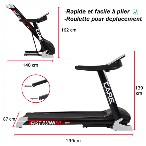 Tapis de course Fast Runner Care Fitness